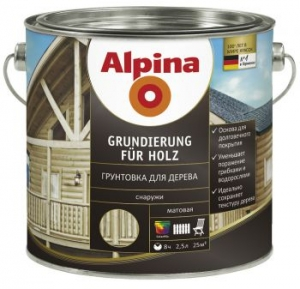 Alpina Grundierung für Holz / Альпина грунтовка для дерева