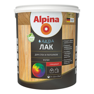 Alpina Aqua / Альпина Аква лак на водной основе для стен и потолков