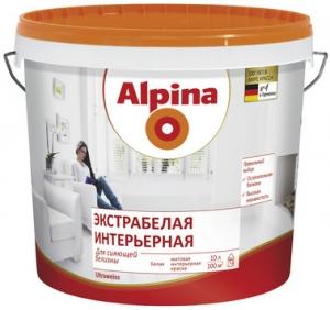 Alpina / Альпина Экстрабелая Интерьерная матовая краска для стен и потолков
