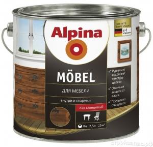 Alpina Möbel / Альпина Мебель лак алкидный для мебели шелковисто матовый