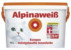 Alpina Alpinaweiss / Альпина Вайс краска белоснежная, матовая краска для стен и потолков