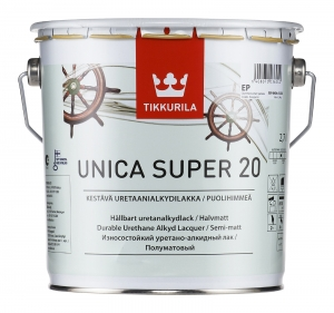 Tikkurila Unica Super / Тиккурила Уника Супер яхтный лак полуматовый
